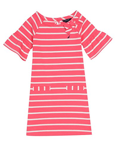 Shift Nautica Stripe Pink Dress Jersey Bright Girls' FHFRw8tqB