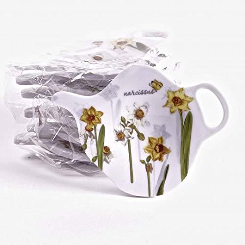 Jcook Home Decor PVC Tea Bag Holders - Daffodils - Set of 6