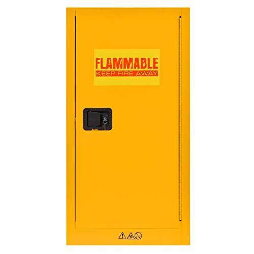 (Sandusky Lee SC16F Flammable Liquid Storage Cabinet in Yellow, 44
