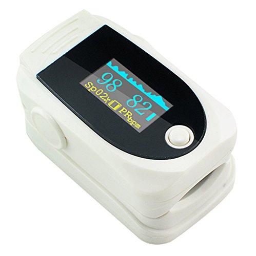 Carejoy New OLED oxímetro de pulso dedo pulsioxímetro portátil Digital oxígeno en la sangre y pulso Medidor de Sensor Spo2 Monitor De Dedo Con Alarma Audio y Sonido Del Pulso – Home y Professional – Lecturas rá