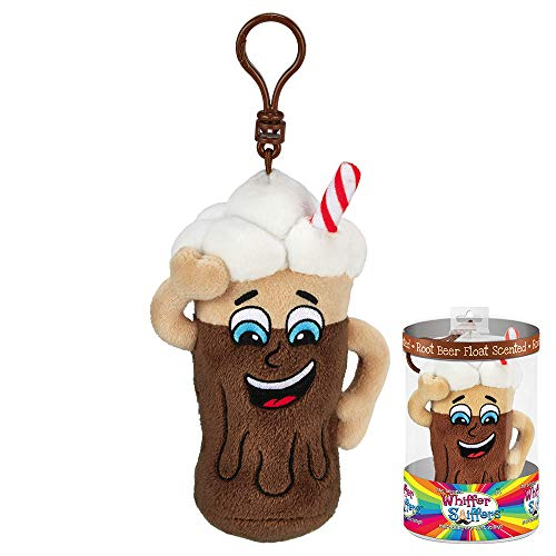 Whiffer Sniffers Rudy B. Floats Root Beer Float Scented Plush Backpack Clip