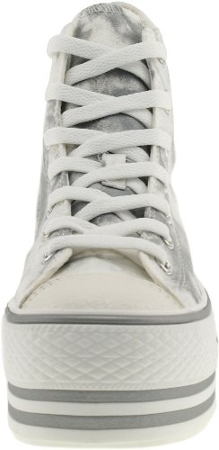 Maxstar C50 7-Fach mit Reißverschluss Fashion Platform High Top Sneakers Mottled-Grey