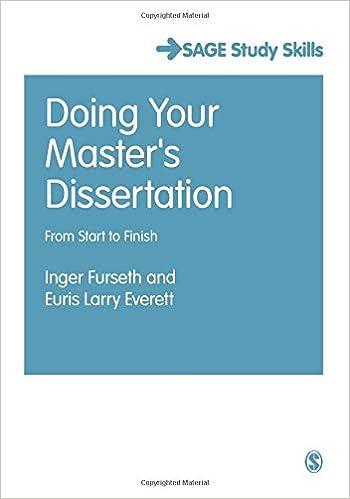 Doing Your Master S Dissertation From Start To Finish Sage Study Skill Serie Student Succes Amazon Co Uk Inger Furseth Euri Everett Larry 9781446263990 Books Length