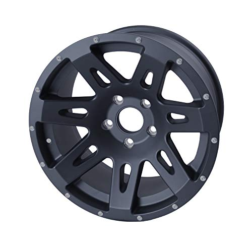 (Rugged Ridge 15301.01 XHD Black Satin Wheel for Select Jeep Wrangler JK Models (17x9