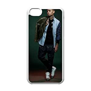 iPhone 5c Cell Phone Case White Chris Brown GRN