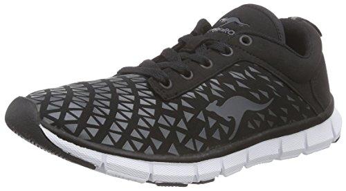 Kangaroos K-Blue Run 8005 C, WoMen Low-Top Sneakers Black - Schwarz (Black 500)