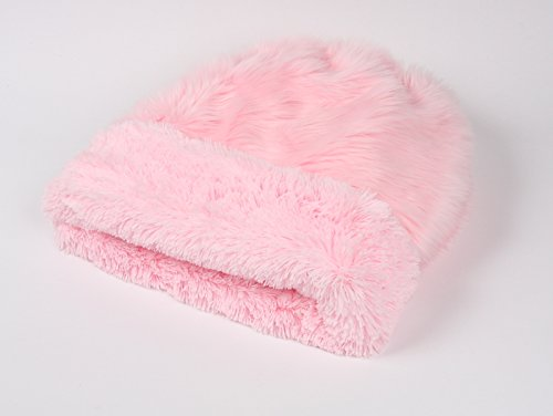 Cuddle Cup Pet Bed - Pink Fluff w/Pink Shag by Susan Lanci Designs (Susan Cup)