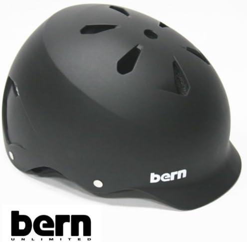 bern(バーン) bern ヘルメット WATTS オールシーズンモデル Matte 黒 ジャパンフィット ワッツ 自転車 BMX スケボーヘルメット バーン ヘルメット  M(55.5-57cm)