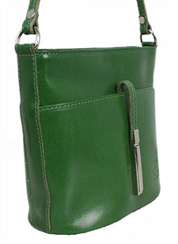4250736211171 Verde Leatherworld A Donna Italy Borsa marrone Braun cognac Spalla 88qw1WSnz