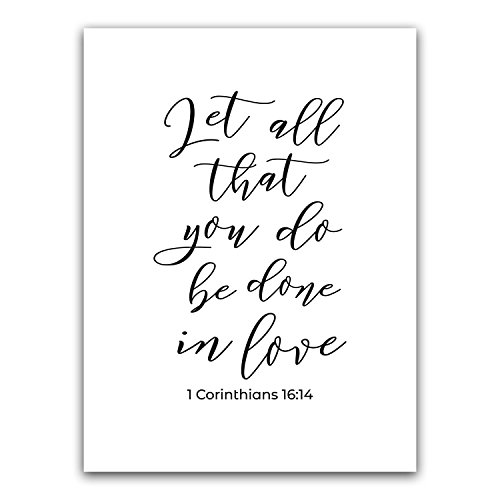 Let All That You Do Be Done In Love Bible Verse Wall Art, Sc