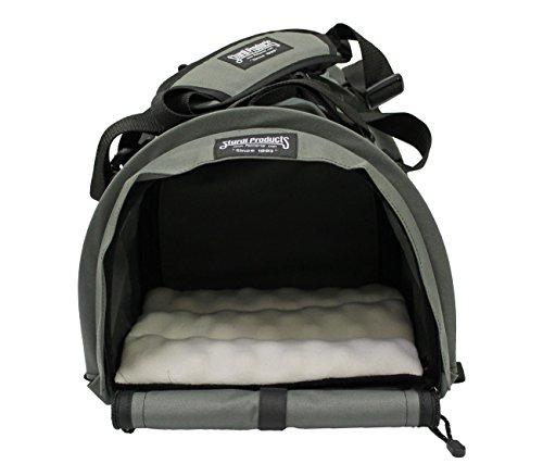 STURDI PRODUCTS Bag Double Sided Divided Pet Carrier, Large, Smoke (Seat Window Bow Cushions)