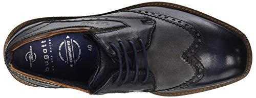 Bugatti 4115 Scarpe Derby 11 dark Uomo 11599e Stringate Grey Multicolore Blue 3 PqxrwPnCt