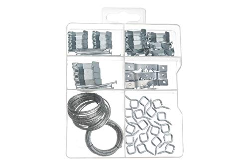 Picture Hanging Assortment KIT, Includes Hooks, Nails, Sawtooth Hangers, and Picture Hanging Wire. Perfect for All Your Paintings, Family Photos, Canvas and Artwork. -