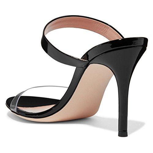Sandaalit 15 Koko Us 4 Juhlakengät Avoin Naiset Selkeä Stiletto Strappy Seksikäs Korkokenkiä Fsj Muulit 7FwqHIn