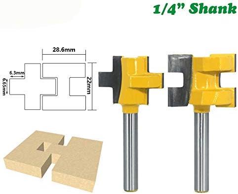 NO LOGO ZZB-ZT, 2ST 1/4 Shank Tranchiermesser Platz Tooth T-Nut-Tenon-Fräser Fräser for Holz Werkzeug zur Holz (Size : 2pcs 1/4)