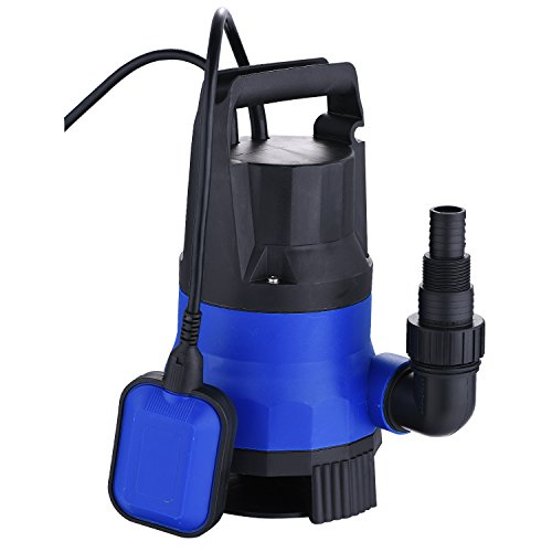 2115GPH 1/2HP Submersible Pump Clean Dirty Water Sump Pump For Swimming Pool Pond Garden Includes Float Switch (2115GPH 1/2HP)