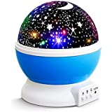 Star Sky Lamp Romantic Night Light Moon Star Projector Room Rotating Cosmos 360 Degree Rotation Unique Gifts for Baby Kids