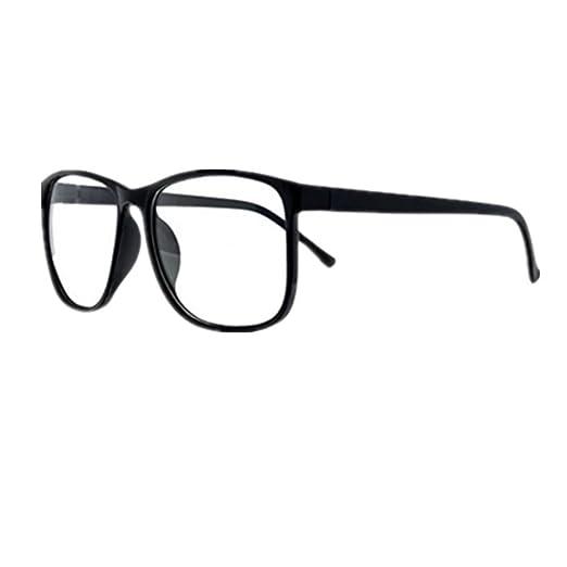 e35226e04db5b Shiratori Unisex Classic Retro Large-Framed Glasses Plastic Glasses Frame  Nerd Glasses Clear Lens Glasses