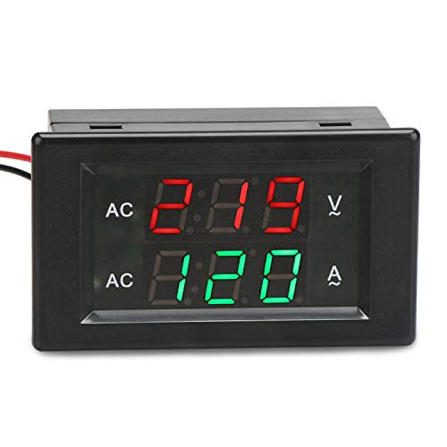 - DROK AC 500V 200A Voltmeter Ammeter Display Panel