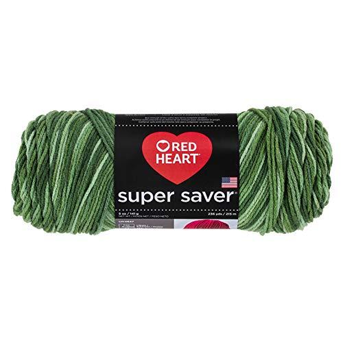 (Red Heart Yarn Super Saver Yarn 3629 Green Tones, Deep Pine Green)