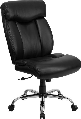 - Flash Furniture HERCULES Series Big & Tall 400 lb. Rated Black Leather Executive Swivel Chair