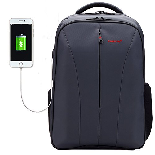 Executive Computer Backpack (Business Backpack for 15.6 16 Inch Laptop with USB Charging Port Travel Work Computer Bag Grey)