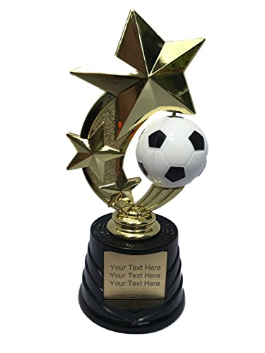 (Trophy Crunch - Customized Soccer Trophies - Soccer Spinner I - Custom Plate Engraving)