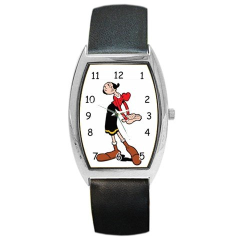 Popeye and Olive Oyl Barrel Style Metal