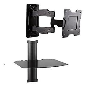Full Motion HD/LED TV Wandhalterung Mit Floating Komponente Ablage Für 94  Cm 63