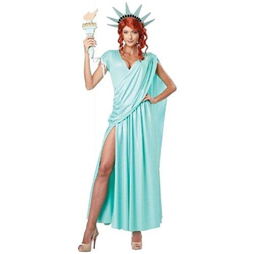 Miss Liberty Sexy Costumes (Fancy Sexy Statue of Liberty Lady Liberty Adult Costume)