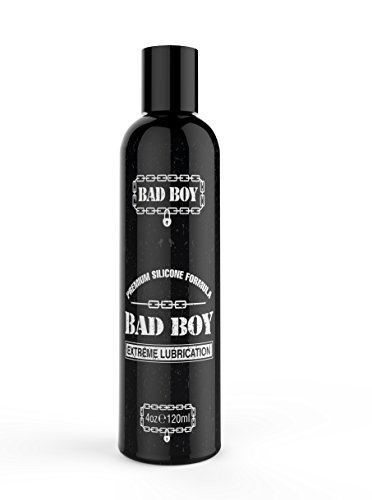 Premium Silicone Personal Lubricant by Bad Boy - Medical Grade Lube Safe to Use with Condoms, Latex and Non-Silicone Toys - Long Lasting, Ideal for Use in the Shower (4oz)