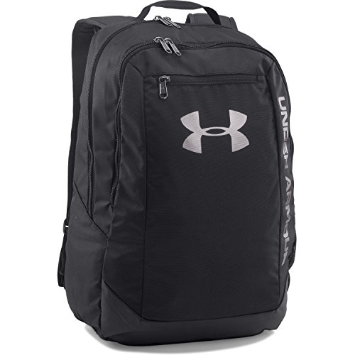 Under Armour Unisex UA Hustle Backpack LDWR Black Backpack - Black 100% Laptop Sleeve