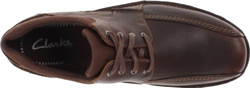 Clarks Senner Blvd, Scarpe stringate uomo Marrone Brown Tumbled Leather