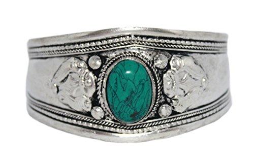 Tibetan Silver Turquoise Bracelet - Turquoise Bracelet, Cuff Bracelet, Tibetan Bracelet, Silver Bracelet, Boho Bracelet, Gypsy Bracelet BB263