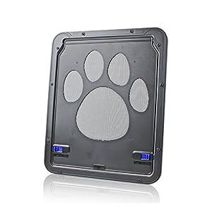 PETCUTE Gateras para Perros Puerta para Gatos Puertas para Perros Cerradura Automática de Mascota Bloqueable para…