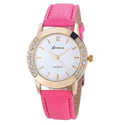 Modaworld Relojes de Mujer, Reloj de Pulsera de Cuarzo de Cuero analógico de Diamantes de Mujer Regalo para Novia Relojes Mujer Pulsera niña: Amazon.es: ...