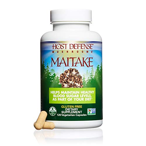 - Host Defense - Maitake Mushroom Capsules, Naturally Promotes Normal Blood Sugar Metabolism, Cellular Health, and Immunity, Non-GMO, Vegan, Organic, 120 Count