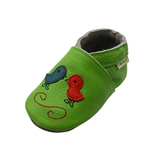 Sayoyo Baby Cute Chick Soft Sole Leather Baby Shoes Baby Moccasins (18-24 Months, Green)