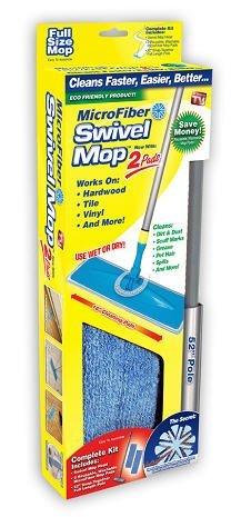 Microfiber Swivel Mop (w/ 2 Pads) (Mop Snap)