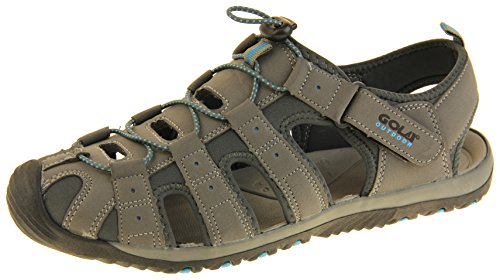 Gola Grey, Black & Blue Mens Sport Sandals Amp 648 16 D(M) US