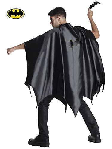 Deluxe Cape - Rubie's Costume CO Men's DC Superheroes Deluxe Batman Cape, Black, One Size