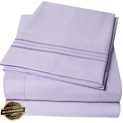 Gatton New Premium Egyptian Comfort 1800 Thread Count 4 Piece Bed Sheet Set Deep Pocket | LINENIENHM-182011263 California King