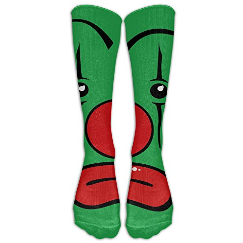 NavyLife Men's Premium Quality Sad Clown Makeup Red Nose Fitness Novelty Crew Athletic Socks Calf High Sock