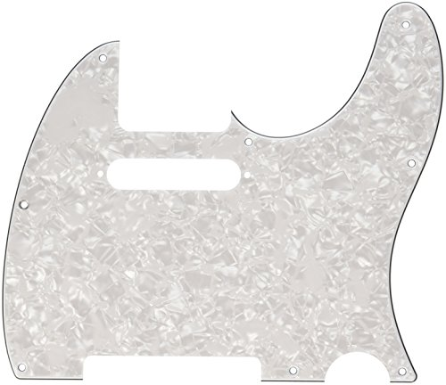 Pearl Genuine Fender - Fender Standard Telecaster Pick Guard (8-Hole) 4-Ply - White Pearl