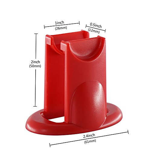ChasBete New Amazing Fidget Spinner Stand Best Accessory For Tri-spinner Hand Toys-Cool Stylish Strong Display Holder Organizer For Desk-Handsfree Stress- Relieving Spinning, Red