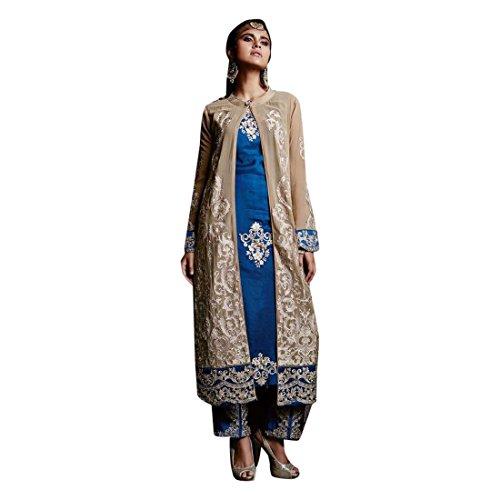 Leisure Salwar Collezione ETHNIC Dress per il tempo Women libero Indian Indian Pakistani Collezione Straight EMPORIUM di 2669 Bollywood formale Collezione Designer Georgette rXwqvtX