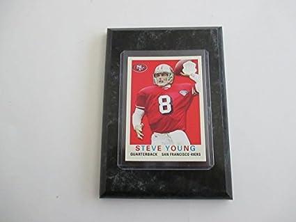 a157ae63224 Amazon.com  Steve Young QB San Francisco 49ers 4x6 NFL trading card ...