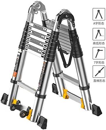 GUTYRE - Escalera telescópica Multiusos de Aluminio telescópica, Extensible, portátil, Plegable, para Exterior/Interior, A, 2 m: Amazon.es: Hogar