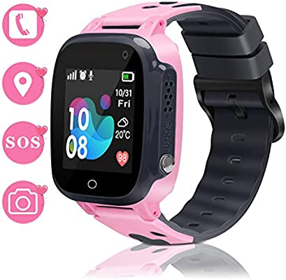 Smart Watch for Kids Smartwatch Phone GPS Watch for Kids Waterproof Watch with SOS Camera Alarm Clock Security Zone Voice Chat Smart Watch for Kids ...