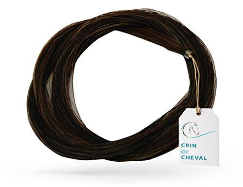 1 Hank crin de cheval pour archet de violon. Environ 82 cm - 10 grammes - Provenance Mongolie - Qualite AAA - Crin Noir Naturel